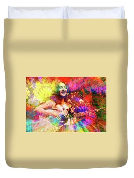 Joan Baez Duvet Cover