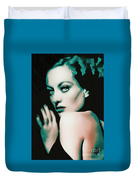 Joan Crawford - Pop Art Duvet Cover