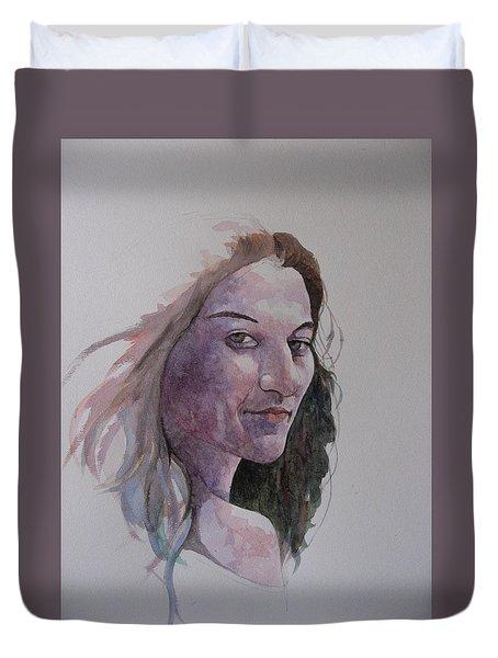 Joanna Duvet Cover by Ray Agius