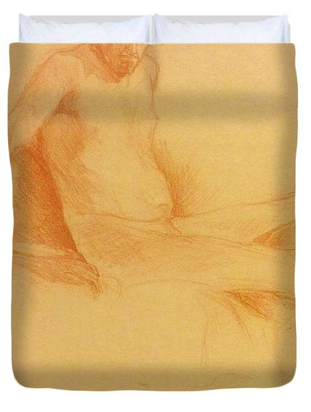 Duvet Cover featuring the painting Joe #1 by James  Andrews