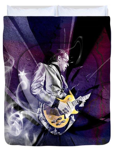 Joe Bonamassa Art Duvet Cover by Marvin Blaine