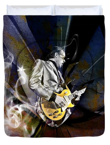 Joe Bonamassa Blues Guitarist Duvet Cover by Marvin Blaine