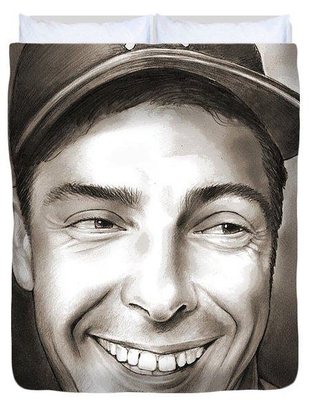 Joe Dimaggio Duvet Cover