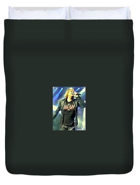 Joe Elliott Of Def Leppard Duvet Cover by David Patterson