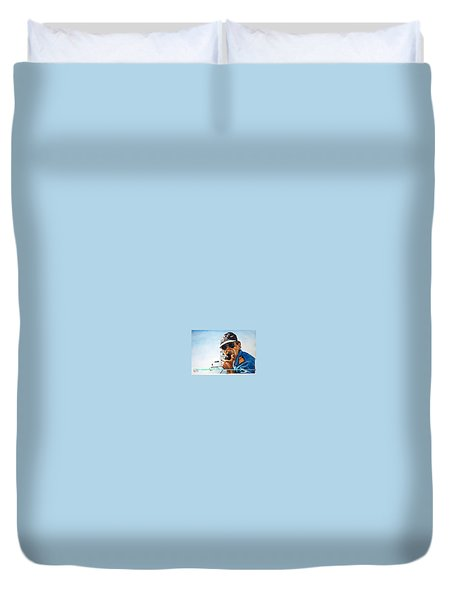 Joe Johnson Duvet Cover by Tim Johnson