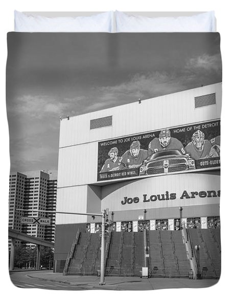 Joe Louis Arena Black And White  Duvet Cover