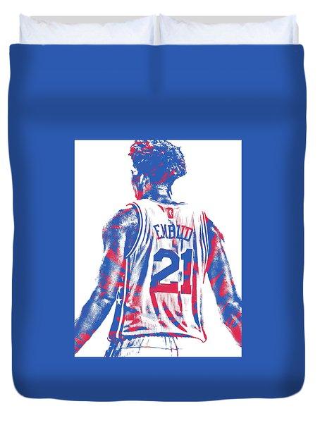 Joel Embiid Philadelphia Sixers Pixel Art 11 Duvet Cover