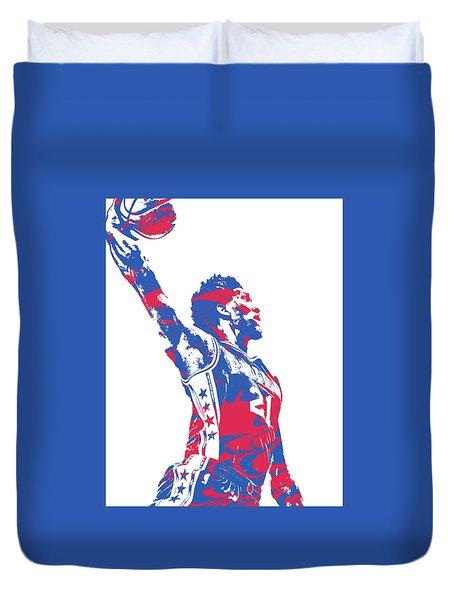 Joel Embiid Philadelphia Sixers Pixel Art 13 Duvet Cover