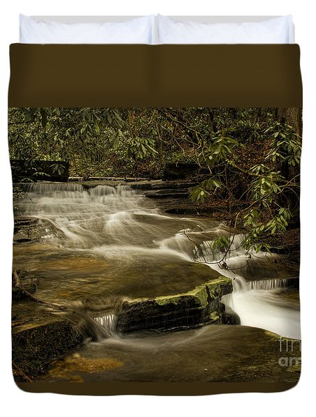 Duvet Cover featuring the photograph Joe's Creek by Barbara Bowen