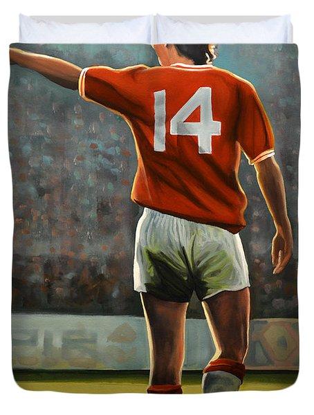 Johan Cruyff Oranje Nr 14 Duvet Cover