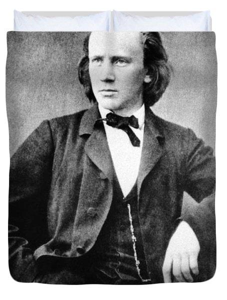 Johannes Brahms, German Composer Duvet Cover by Omikron