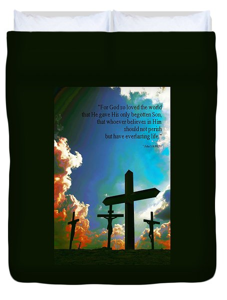 Duvet Cover featuring the photograph John 316 by Bob Pardue