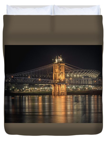 John A. Roebling Suspension Bridge Duvet Cover