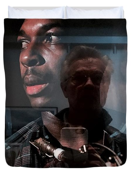 John Coltrane And Me Duvet Cover