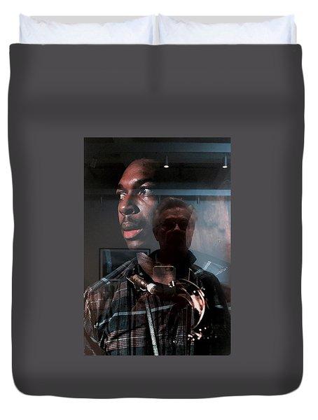 John Coltrane And Me Duvet Cover