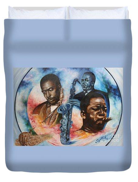 Blaa Kattproduksjoner     John Coltrane - Jazzed  Duvet Cover