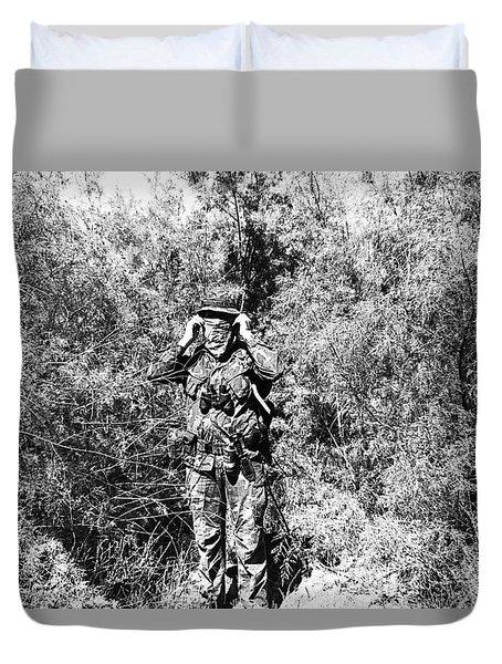 John Dane In Viet Nam   Camouflage Uniform  Near American Fork Utah 1975 Duvet Cover