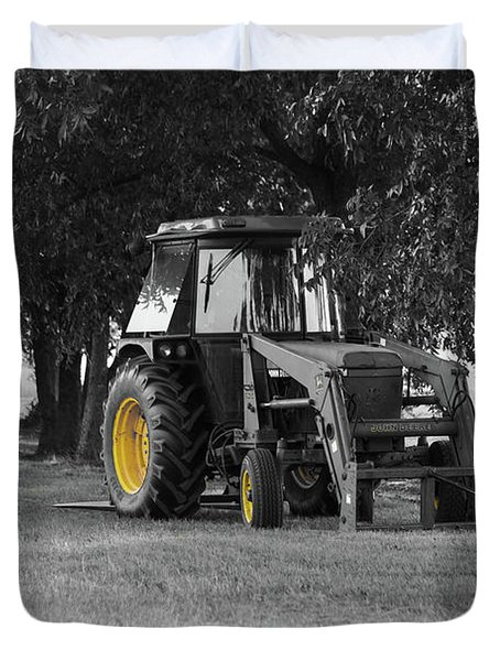 John Deere 620 In Selective Color Duvet Cover
