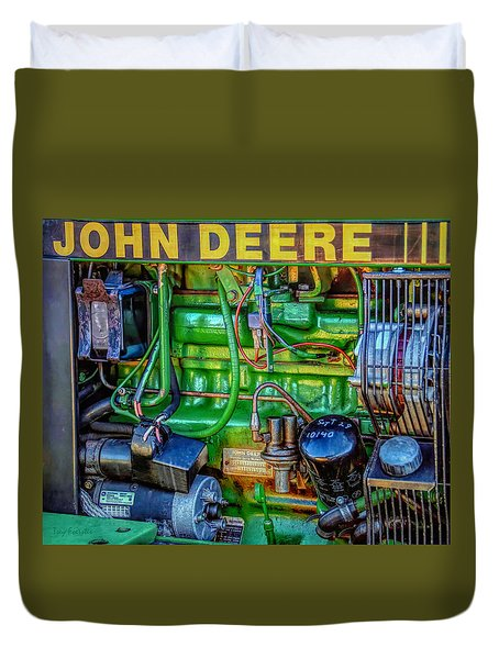 John Deere Engine Duvet Cover by Trey Foerster