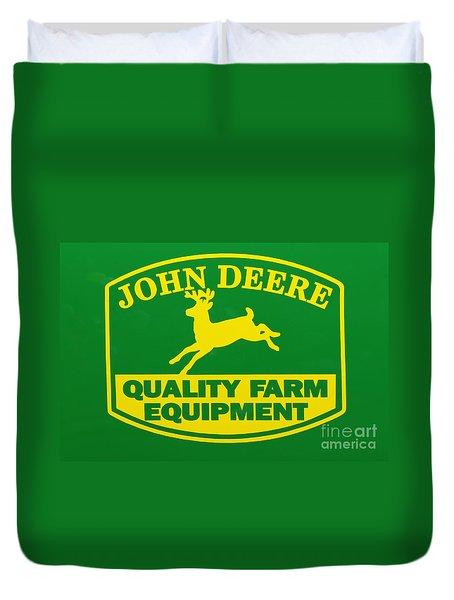 John Deere Farm Equipment Sign Duvet Cover