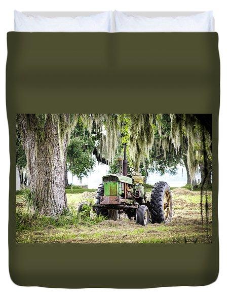 John Deere - Hay Day Duvet Cover by Scott Hansen
