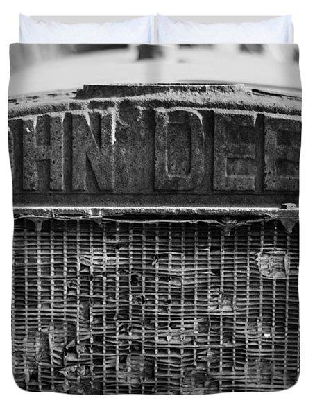 John Deere In Monochrome Duvet Cover