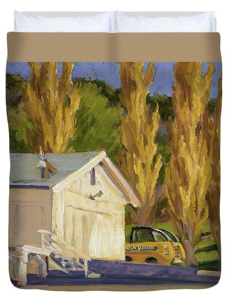John Deere Duvet Cover by Jane Thorpe