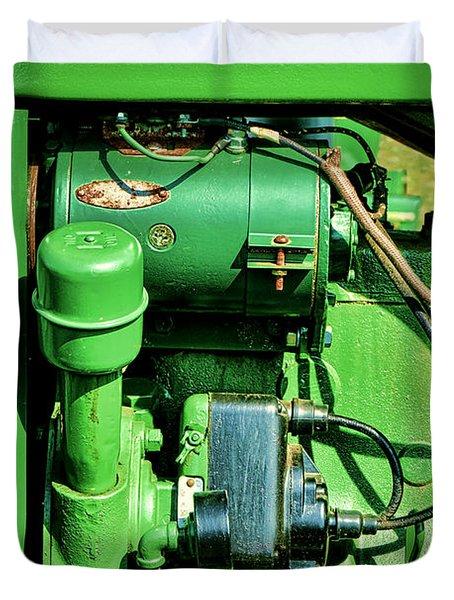 John Deere Tractor Engine Detail Duvet Cover