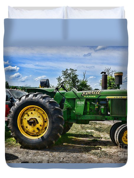 John Deere Tractor Just Sitting There Duvet Cover