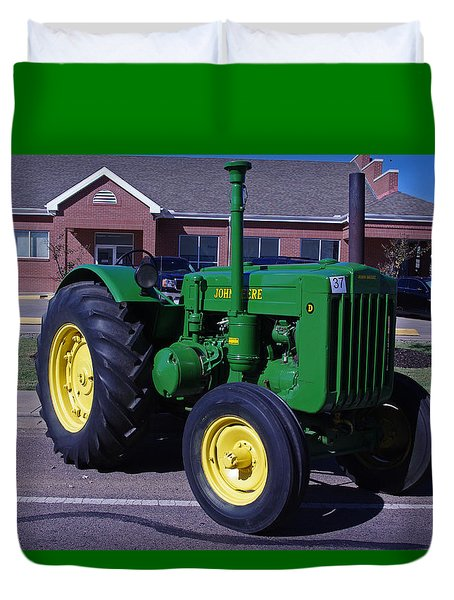 John Deere Tractor Duvet Cover by Robyn Stacey
