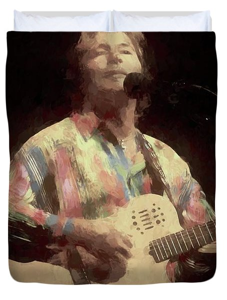 John Denver Painting Duvet Cover