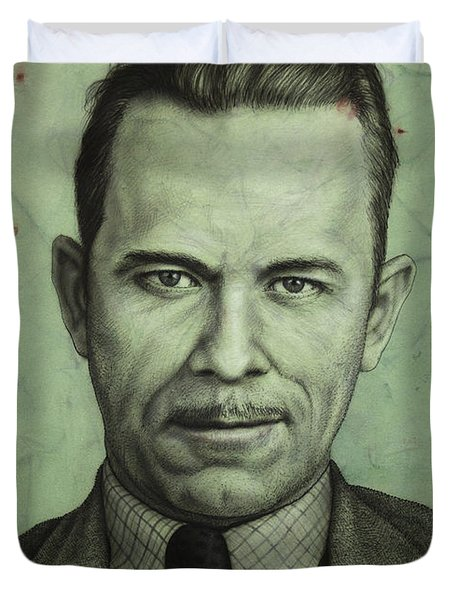 John Dillinger Duvet Cover by James W Johnson