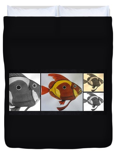 John Dory Collage Duvet Cover