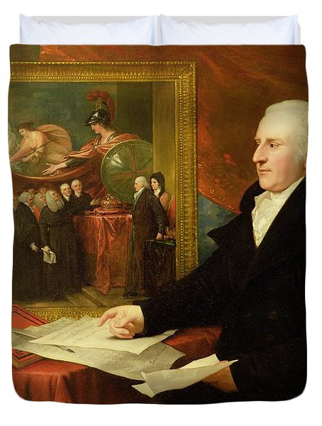 John Eardley Wilmot  Duvet Cover by Benjamin West