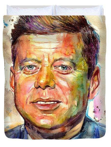 John F. Kennedy Painting Duvet Cover