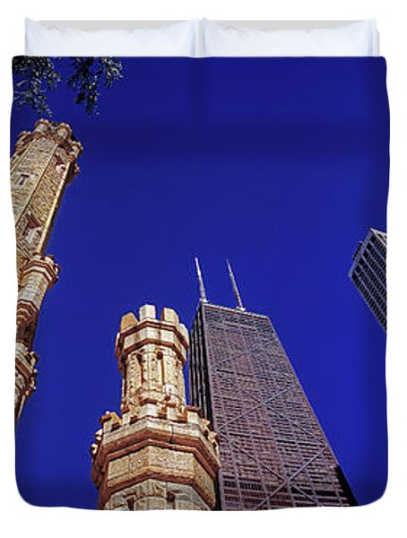 John Hancock Building And Water Tower Place Duvet Cover