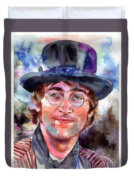 John Lennon Portrait Duvet Cover