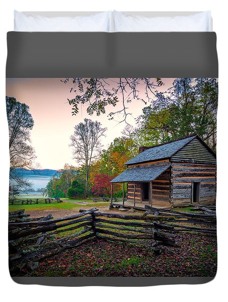 John Oliver Place In Cades Cove Duvet Cover by Rick Berk