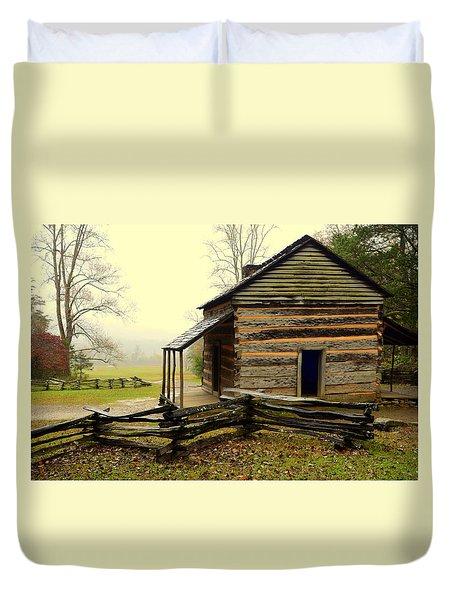 John Olivers Cabin Duvet Cover