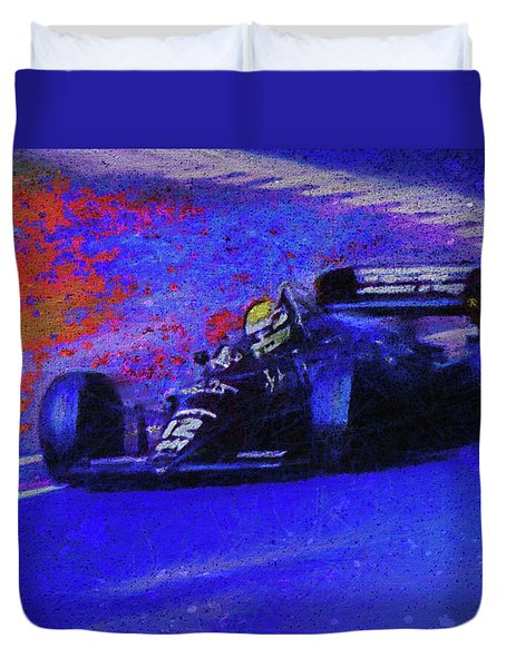 Duvet Cover featuring the mixed media John Player Special by Marvin Spates