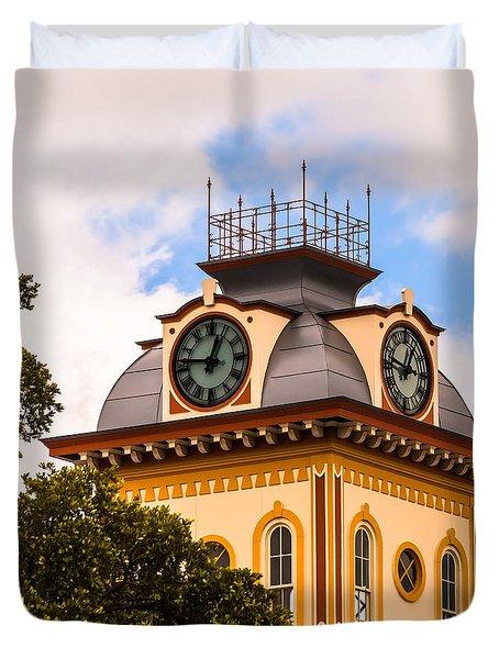 John W. Hargis Hall Clock Tower Duvet Cover