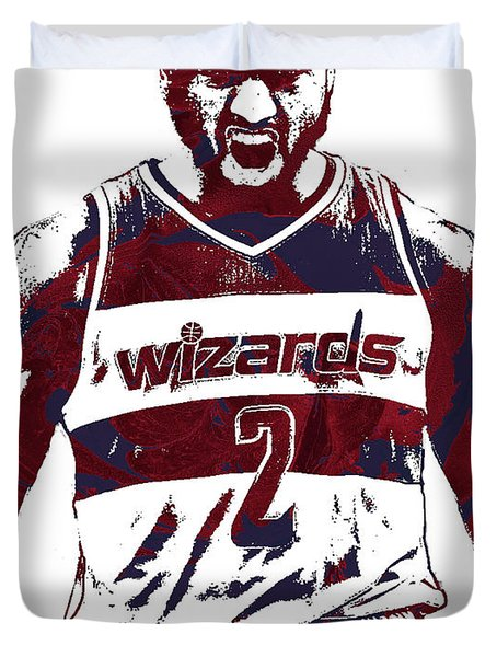 John Wall Washington Wizards Pixel Art 5 Duvet Cover