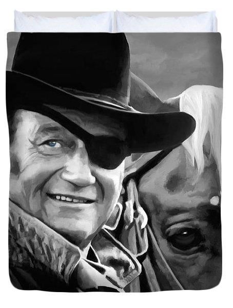 John Wayne @ True Grit #1 Duvet Cover