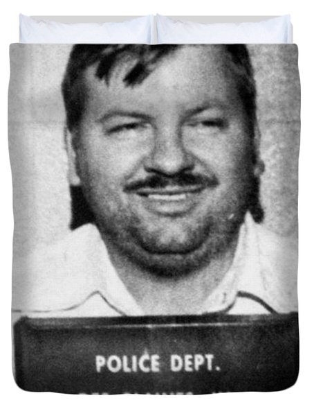 John Wayne Gacy Mug Shot 1980 Black And White Duvet Cover