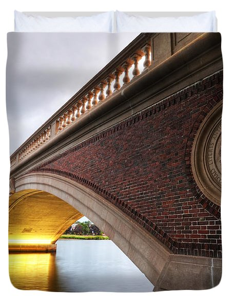John Weeks Bridge Charles River Harvard Square Cambridge Ma Duvet Cover