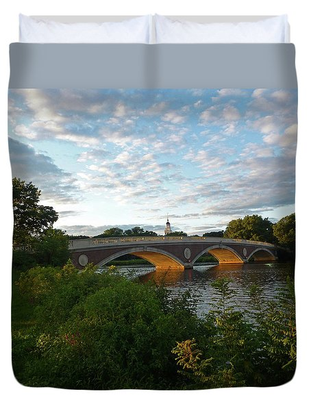 John Weeks Bridge In Harvard Square Cambridge Duvet Cover