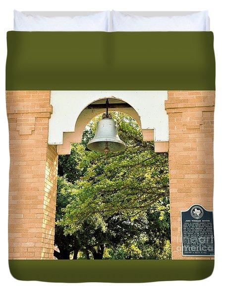 Duvet Cover featuring the photograph John Wheeler Bunton Historic Memorial by Ray Shrewsberry