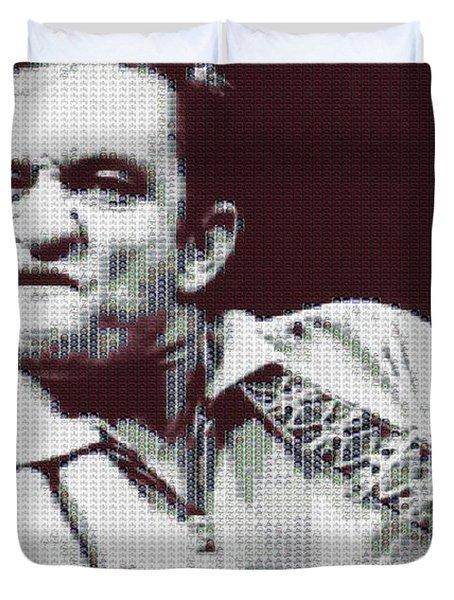 Johnny Cash Beer Cap Mosiac Duvet Cover