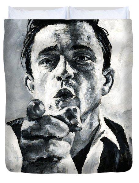 Johnny Cash II Duvet Cover