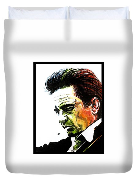 Johnny Cash Duvet Cover
